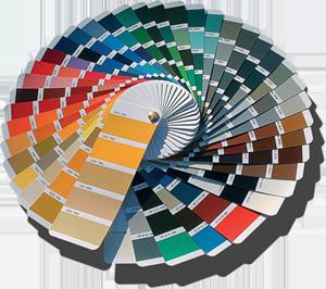 Металлоштакет с двухсторонней порошковой покраской по каталогу RAL